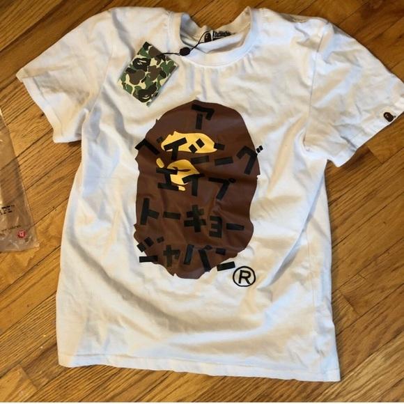 6454f9238 Bape Shirts | A Bathing Ape T Shirt Ua Monkey Head Street | Poshmark